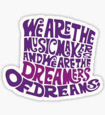Willy Wonka Hat Dreams - Purple Sticker