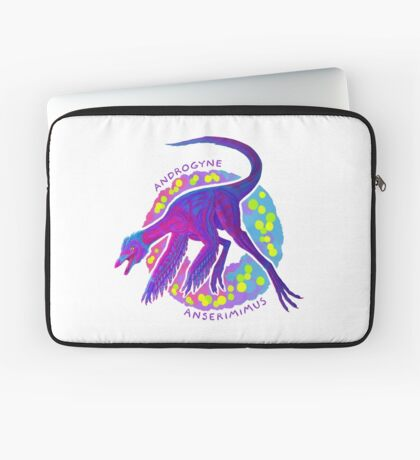 Androgyne Anserimimus (with text)  Laptop Sleeve