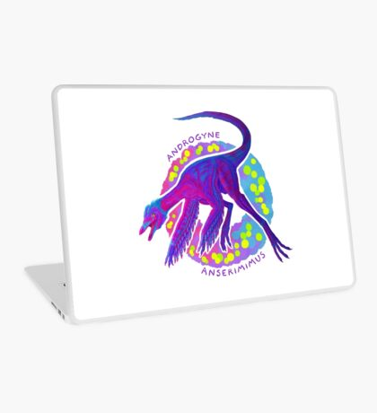 Androgyne Anserimimus (with text)  Laptop Skin
