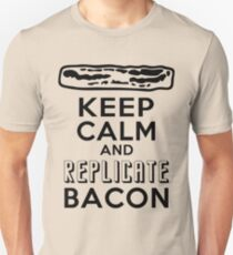 Enterprise Motto: Keep Calm and Replicate Bacon Unisex T-Shirt