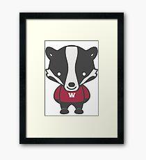 Badger Mascot Chibi Cartoon Framed Print