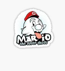 Mario : The Super Ghost Sticker