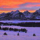Grand Teton Winter Sunset by Stephen Vecchiotti