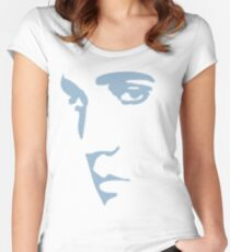 King of Rock n Roll silhouette  Women's Fitted Scoop T-Shirt