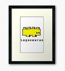 Legosaurus funny nerd geek geeky Framed Print