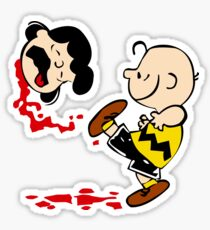 Lucy is a punt charlie brown funny nerd geek geeky Sticker