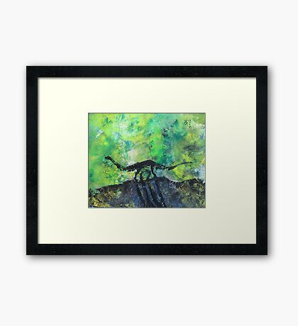Abstract Dino Framed Print