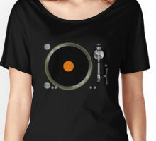 Turntable Music Vinyl Record Player  Gramophone Women's Relaxed Fit T-Shirt