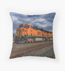 BNSF Stormy Weather Throw Pillow