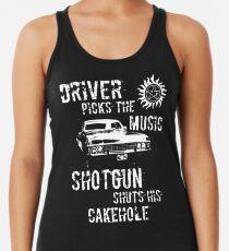 Driver Picks the Music Racerback Tank Top