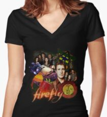 Firefly/Serenity Women's Fitted V-Neck T-Shirt
