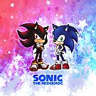 Sonic & Shadow iPhone Case by Vanesa Aguilar