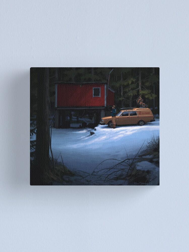 Alternate view of Skogverkstaden Canvas Print