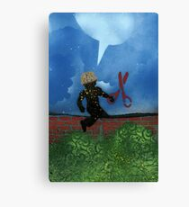 Boy with Scissors Canvas Print