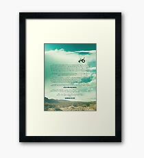Ride - Monologue Framed Print