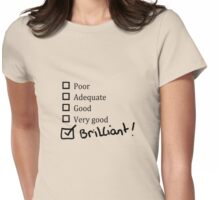 Brilliant Tick Box Womens Fitted T-Shirt