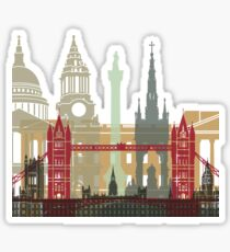 London skyline poster Sticker