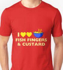 I love fish fingers and custard Unisex T-Shirt