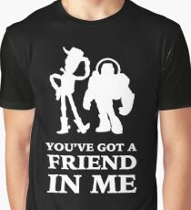 Toy Story Woody and Buzz Lightyear You've Got A Friend In Me Graphic T-Shirt