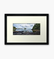 Blue Hill Stitch Framed Print