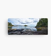 Blue Hill Stitch Canvas Print