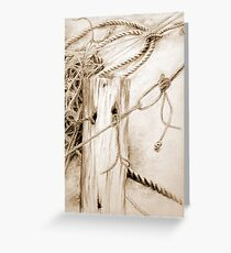 Tangled ropes Greeting Card