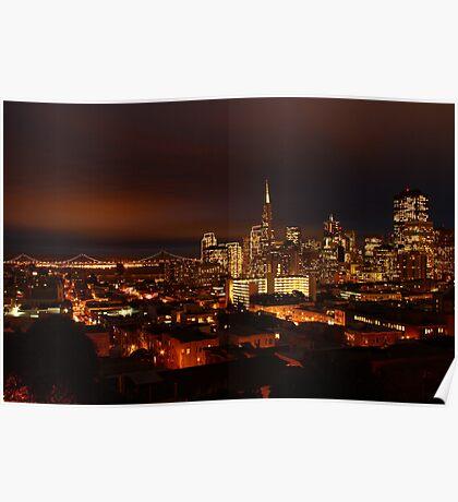 San Francisco Dressed in Lights  Poster