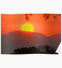 African sunset-ulusaba Poster