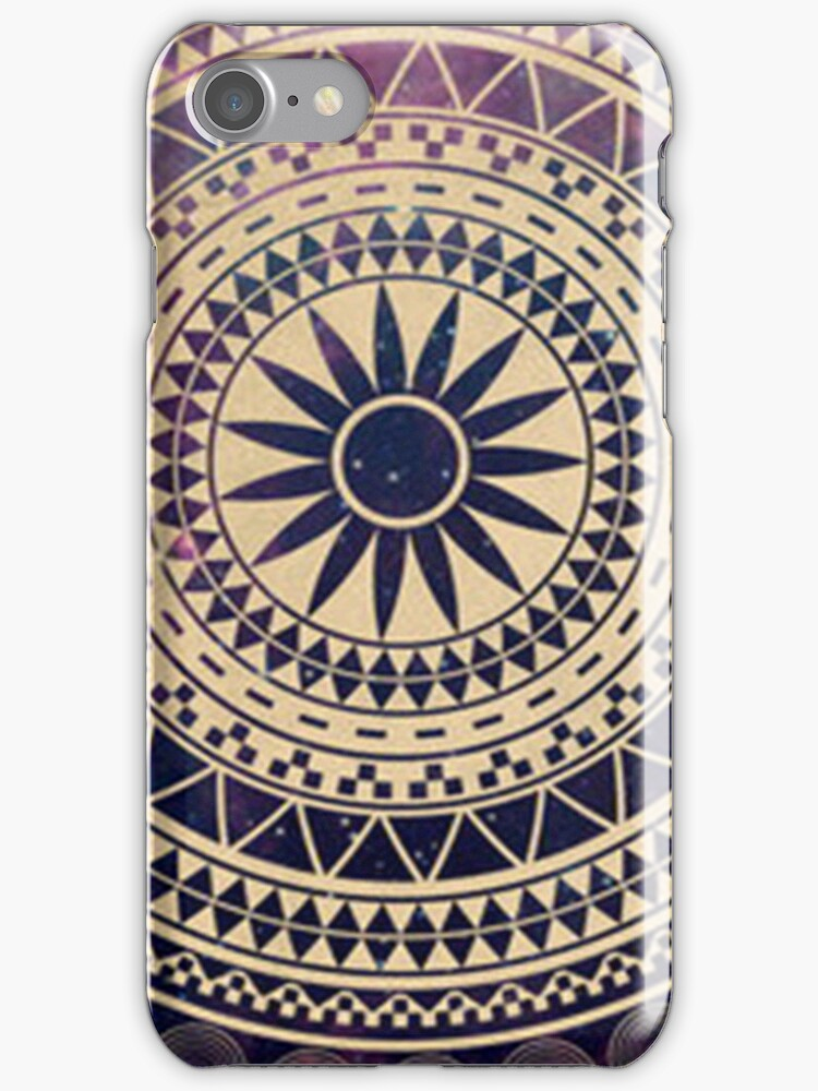 Tribal circle pattern - Iphone Case  by sullat04