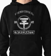 Tokio Hotel University | WHITE TEXT Pullover Hoodie
