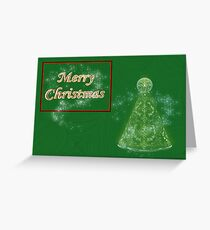Merry Christmas card with christmas tree happy holidays Greeting Card