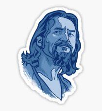The Dude blue Sticker