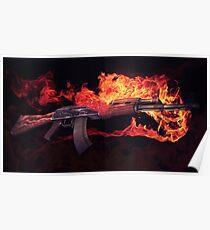 CSGO Gun Series | AK-47 FIRE Poster