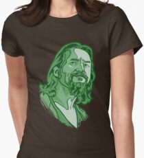 The Dude green Womens Fitted T-Shirt