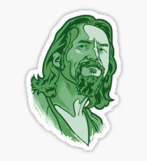The Dude green Sticker
