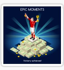 Football Champion Epic Moments Sticker