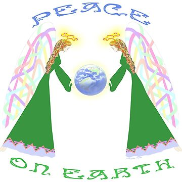 Peace On Earth – Angels Blessing Earth by Blythe Ayne by BlytheAyne