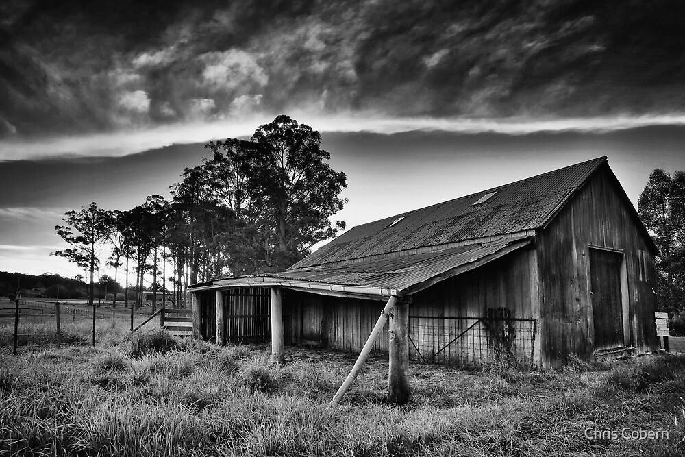 Hay Shed, Cradoc, Tasmania #2 - B&W by Chris Cobern