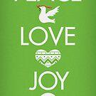 Peace, Love, Joy by studiowun