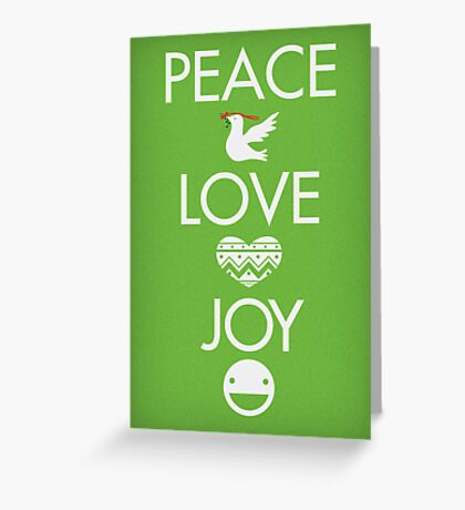 Peace, Love, Joy Greeting Card
