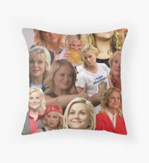 Leslie Knope Tile Throw Pillow