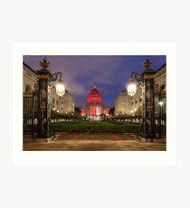 San Francisco Night Scene Art Print