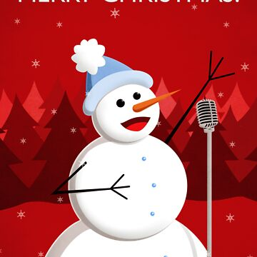 Happy Singing Snowman Christmas  by azzza