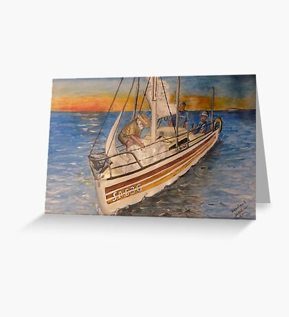 Becalmed Greeting Card