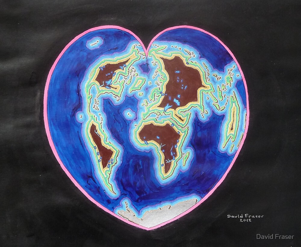 Heart map projection by David Fraser
