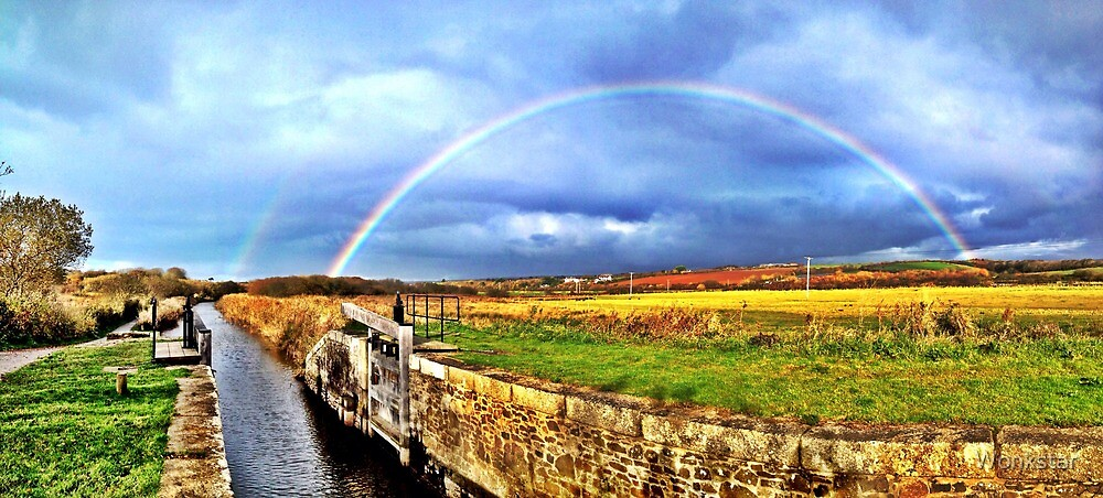 Full Rainbow over the Bude Canal by Wonkstar