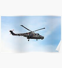Black cat Lynx helicopter at the Southport air show Poster