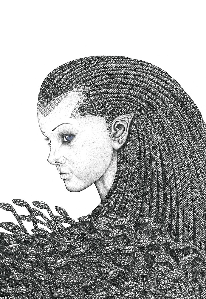 Euryale - Gorgon with Garter Snakes for hair by Paul Stratton