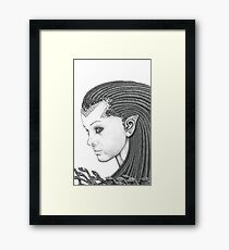 Euryale - Gorgon with Garter Snakes for hair (Face) Framed Print