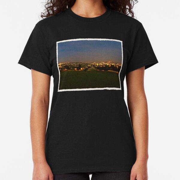 Churchfield view at night Classic T-Shirt